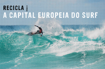 A capital europeia do surf
